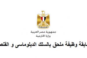 وظائف خالية بالسلك الدبلوماسي للخارجية المصرية…ننشر التفاصيل