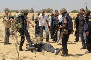 بالصور.. استشهاد جنديان ومقتل 5 تكفيريين في إحباط عملية إرهابية بشمال سيناء