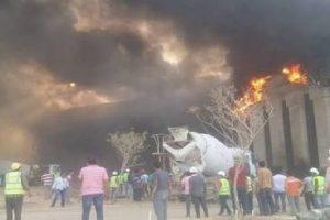 تفاصيل حريق الورش المركزية للمصرية للإتصالات بوسط القاهرة